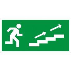 СТ ПЭУ 006 Наклейка По лестнице вверх направо для аварийного светильника