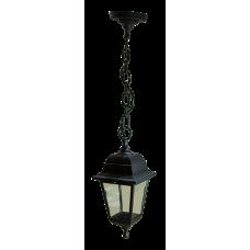 Italmac Светильник садово-парковый четырехгранный на цепи 60вт, Е27, черный, IP44 прозрачное стекло, корпус - полипропилен,  габариты 330*200 мм