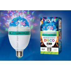 Volpe Белый Светодиодный светильник-проектор ULI-Q301 03W/RGB/E27