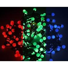 "NEON-NIGHT Гирлянда ""Мультишарики"" ?18мм 5м, темно-зеленый ПВХ, 30 диодов, цвет RGB"