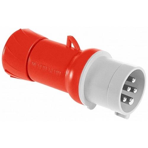 SE PratiKa Вилка кабельная, винтовой зажим, 32А 3P+N+E 380V IP44
