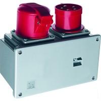 ABB Соединительное устройство для монтажа на поверхность с подключение шлейфа 432A6, вилка и розетка 3P+N+E, 32А, IP44, 6ч