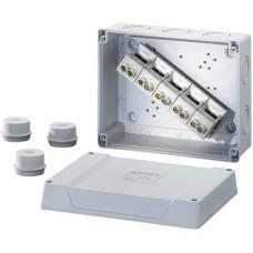 K 9255 Коробка распред c клеммником до 10кв.мм и сальниками 160x200x98 IP55