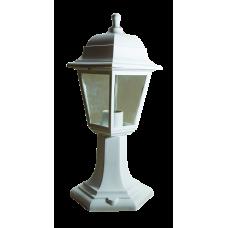 Italmac Светильник садово-парковый четырехгранный на стойке 60вт, Е27, белый, IP44, прозрачное стекло, корпус - полипропилен,  габариты 400*180 мм