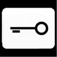 JUNG CD 500/CD plus Белая Линза с символом КЛЮЧ для клавиши с окошком