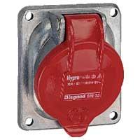 Legrand Hypra Металл Розетка встраиваемая   IP44 -3К+Н+З  16А