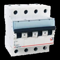 Legrand TX3 Автоматический выключатель 4P 10A (B) 6000/10kA