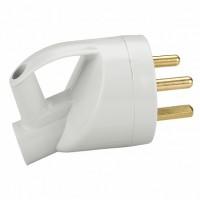 Legrand Розетка 2К+З с кольцом, 20А, выход кабеля сбоку, пластик