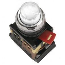 IEK Кнопка ABLFP-22 белый d22мм неон/240В 1з+1р