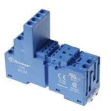 Finder Синий Розетка с винтовыми клеммами (с зажимной клетью) для реле 55.32, таймера 85.02; применяются модули 86.00, 99.02; в комплекте металлическа