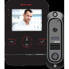 Tor-neT Комплект видеодомофона (TR-25M B монитор видеодомофона цв. + В/П DVC-412С черный)