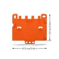 WAGO Пластина для установки фиксирующего держателя 222-500 на плоском основании