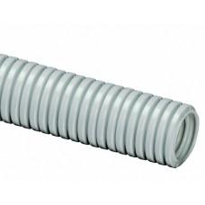 DKC Труба ПВХ гибкая гофрированная легкая D=16мм (50м) серая без протяжки (Серия 9)