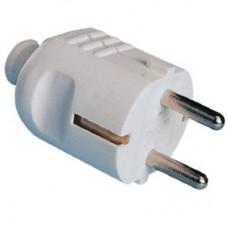 DKC Вилка кабельная, бытовая с центральным вводом кабеля. Черная. IP20 16А 2P+E 230В