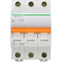 SE Домовой ВА63 Автоматический выключатель 3P 20A (C) 4.5kA