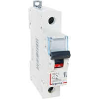 Legrand DX3-E Автоматический выключатель 1P 2А (С) 6000/6kA