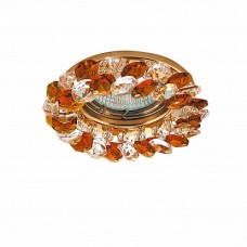Lightstar Onora Золотой/Золото/Янтарь Встраиваемый светильник Onora 030332 GU5.3 1х50W IP20