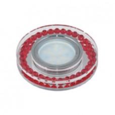 Uniel Fametto Peonia Светильник LED GU5.3 хром/стекло/прозрачный с элементами черного