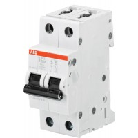 ABB S202 Автоматический выключатель 2P 1A (Z) 6kA