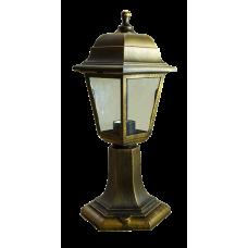 Italmac Светильник садово-парковый четырехгранный на стойке 60вт, Е27, бронза, IP44 прозрачное стекло, корпус - полипропилен,  габариты 400*180 мм