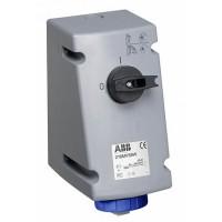ABB Розетка на поверхность с выключателем и блокировкой 16A,2P+E,IP67,для тяжелых условий