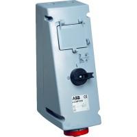 ABB MPR Розетка с рубильником, механической блокировкой и УЗО 416MPR6W, 16А, 3Р+N+Е, IP67, 6ч