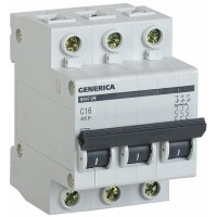 IEK GENERICA Автоматический выключатель ВА47-29 3Р 6А 4,5кА (С)