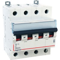 Legrand DX3-E Автоматический выключатель 4P 1А (С) 6000/6kA