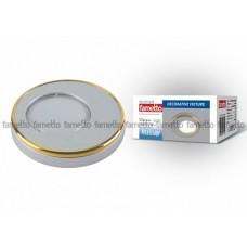 Uniel Fametto Vernissage Светильник LED овал GU5.3 IP20 матовое серебро/золото