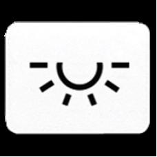 JUNG CD 500/CD plus Белая Линза с символом ОСВЕЩЕНИЕ для клавиши с окошком