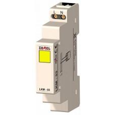 Zamel Сигнализатор световой желтый 230VAC IP20 на DIN рейку