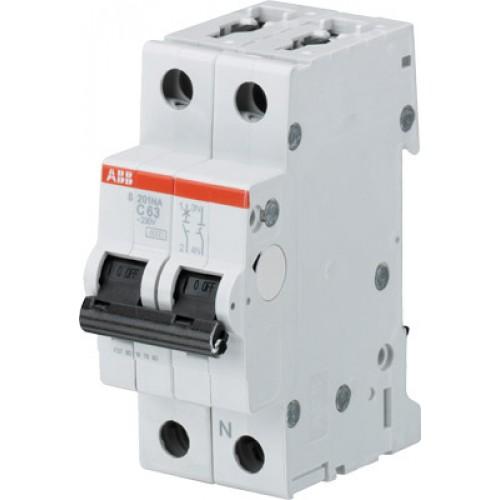 ABB S201 Автоматический выключатель 1P+N 50А (C) 6kA