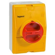 Legrand Пустая коробка IP 65 жёлто-красная 3П или 4П с Н.О. и Н.З. контактами или без них 25 и 32 А