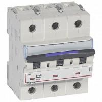 Legrand DX3 Автоматический выключатель 50кА 25А 3P D
