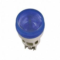 IEK Лампа ENR-22 сигнальная d22мм синий неон/240В цилиндр