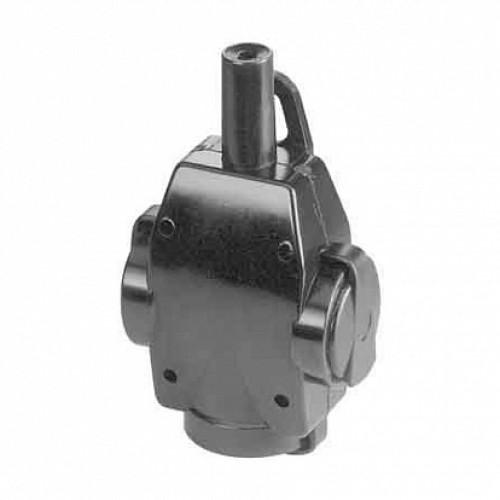 ABL Тройник резиновый 16A, 2P+E, 250V, (черный), для кабеля сечением 1,5 мм2