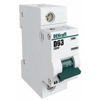 DEKraft ВА-201 Автоматический выключатель 1Р 100А (С) 10кА