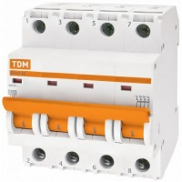 TDM Автоматический выключатель ВА47-29 4Р 25А 4,5кА х-ка С