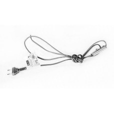 Zamel Серебро Шнур питания с выключателем и вилкой 1,9м 2,5А (SP/W)