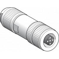 SE Коннектор экранированный, М12, 5 пин, розетка