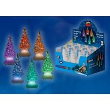 Uniel ULD-F620 RGB XMAS TREE SET12 Фигурка светодиодная на батарейках «Ёлочка» в составе набора из 12 шт. Цвет свечения — RGB. Размер — 5*10 см. IP20.