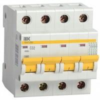 IEK Автоматический выключатель ВА47-29М 4P 1A 4,5кА (С)