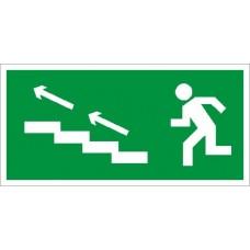 СТ ПЭУ 007 Наклейка По лестнице вверх налево для аварийного светильника