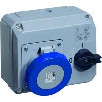 ABB CEWE Розетка c выключателем и блокировкой 63А, 3P+N+E, 380V, IP67