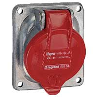 Legrand Hypra Встраиваемая розетка IP 44 2К+З 16 А металл