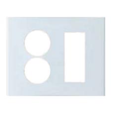 Anam Legrand Zunis Белый Накладка Блока розетки 2-ой + суппорта на 3 модуля