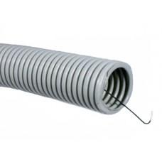 DKC Труба ПВХ гибкая гофрированная легкая с протяжкой D=16мм (100м) серая (Серия 9)