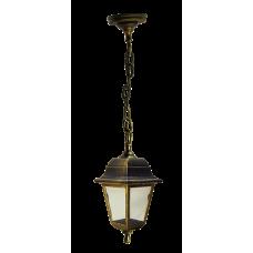 Italmac Светильник садово-парковый четырехгранный на цепи 60вт, Е27, бронза, IP44 прозрачное стекло, корпус - полипропилен,  габариты 330*200 мм