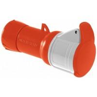 SE PratiKa Розетка кабельная, винтовой зажим, 16А 3P+E IP44 380В