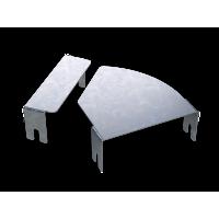 DKC Крышка для угла горизонтального изменяемого CPO 0-44 осн.300, нержавеющая